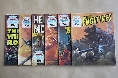 6 x FLEETWAY COMICS, WAR PICTURE LIBRARY - # 1296, 1297, 1298, 1299, 1301 & 1314