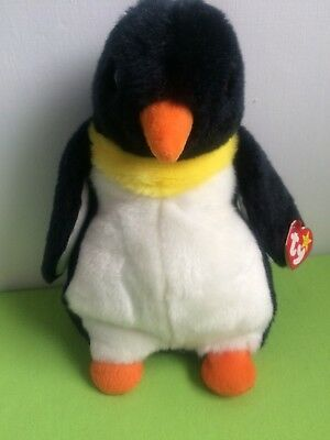 "Ty Beanie Buddy ""Waddle ""The Penguin Soft Toy 10"" VGC"