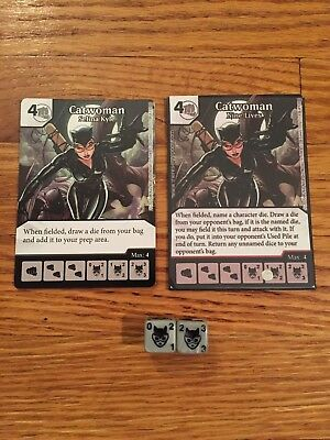 DC Dice Masters Catwoman 2 Cards and 2 Dice