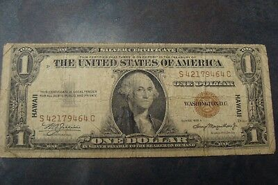 Nice 1935 A $1 Hawaii Emergency Note