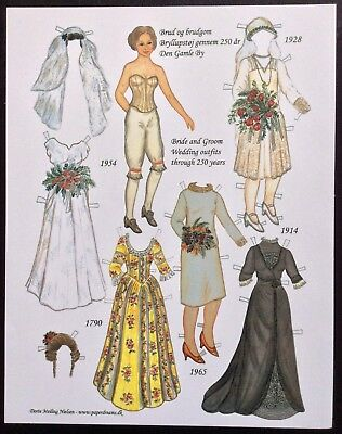Wedding Outfits Through 250 Years Paper Doll, 2005, Dorte Meiling Nielsen Artist
