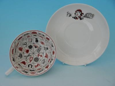 Rare Wilkinson Clarice Cliff Romany Fortune Telling Cup & Saucer