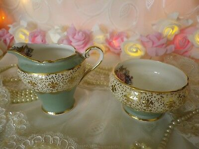 Stunning Vintage Aynsley Demitasse Milk & Sugar set, good condition