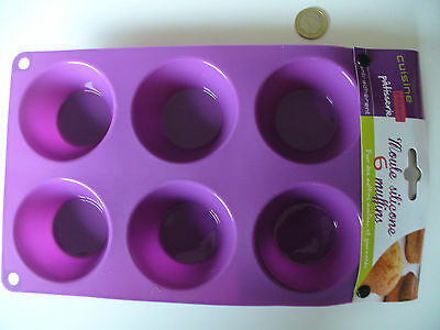 Moule Muffin Plaque 6 Muffins Silicone Anti Adherent Muffin Mold Silicone