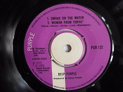 "Deep Purple - Smoke On The Water 1977 7"" Vinyl Single Pur 132."