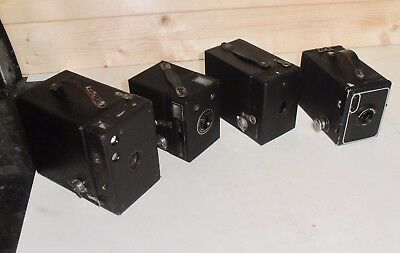 Job Lot of 4 Box Brownie Cameras