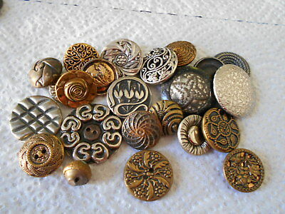 Antique/vintage 23 Metal Buttons  #772
