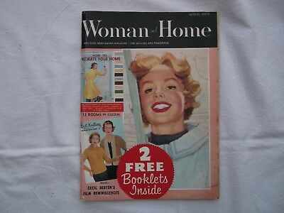 Vintage Woman and Home Magazine April 1958 with original 2 Free booklets