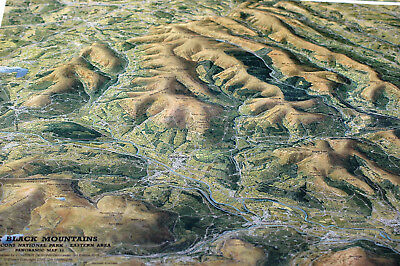 3D Aerial Panoramic Map of The Black Mountains No11 Unusual Gift Idea