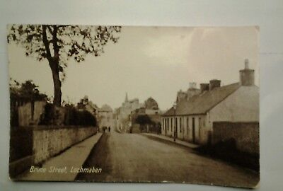 Bruce Street Lochmaben  Real Photograph Postcard     .R. Broatch post office