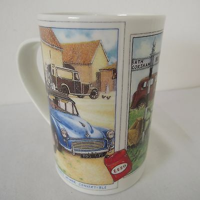 Dunoon Motor Touring Pattern Bone China Mug by Richard Partis made in Scotland