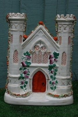 SUPERB 19thC GOTHIC STAFFORDSHIRE CASTLE WITH TURRETS, GOTHIC WINDOWS c1880s