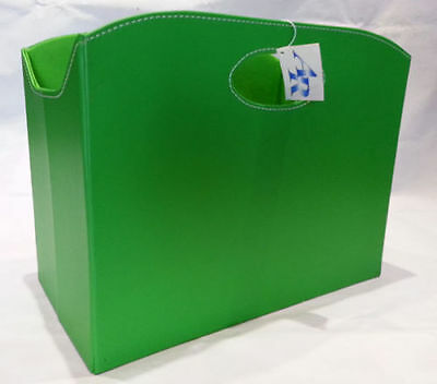 PORTARIVISTE/Magazine Holder Contenitore ecoPELLE/Ecoleather Verde ARTE Regal