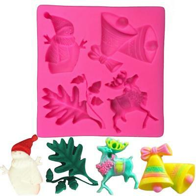 Christmas Cake 3D Silicone Stencils Cookie Form Template Kitchen Baking Tools