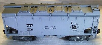 1953-56 AF 924 CRP Jersey Central Gray-Painted Covered Hopper American Flyer.