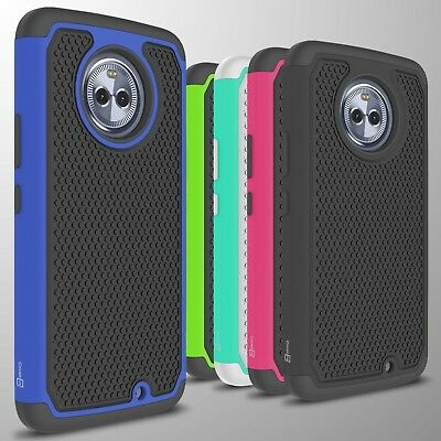 For Motorola Moto X4 (X 4th Gen) Case Tough Protective Hard Hybrid Phone Cover