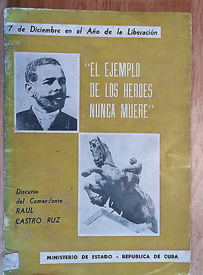 "1959 Book Cuba ""raul Castro Speech On Antonio Maceo"""