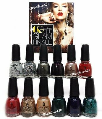 China Glaze Nail Lacquer - THE GLAM FINALE Holiday 2017 Collection - Pick Color