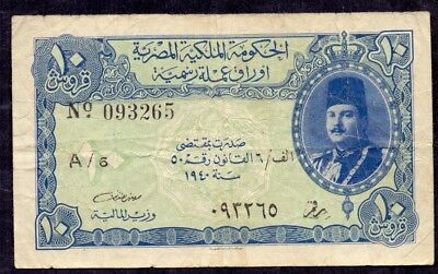 10 Piastres From Egypt 1940