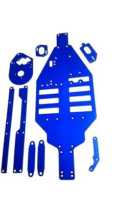 kyosho lazer zx alloy chassis set blue