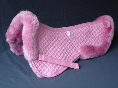 Z41 Australia Sheepskin Half Saddle Pad Cover Soft Dark Pink Cute Pad Medium