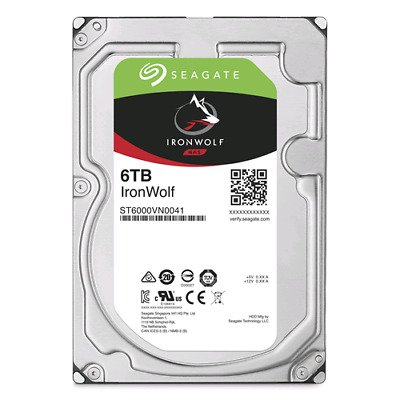 Hard disk esterno HDD int. 3,5 6TB Seagate Ironwolf SATA 6Gb/s 7200rpm 128MB