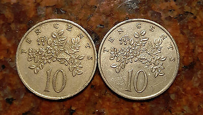 Lot Of (2) Jamaica Coins - #817