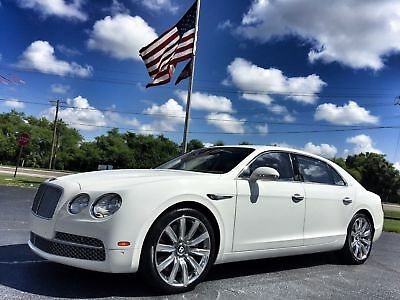 "2014 Bentley Flying Spur $231k NEW*NAIM*GLACIER/SAFFRON*AWD*W12 FLYING SPUR*$231K NEW*W12*AWD*NAIM*21""S*CARFAX CERT*GLACIER/SAFFRON*WE FINANCE"