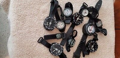 Lot Of 11 Diving Compasses