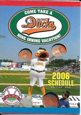 2006 Long Island Ducks Baseball Pocket Schedule  Edition One