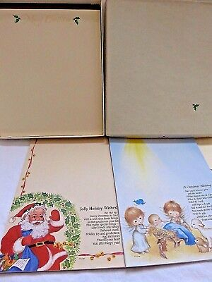 Vintage Christmas Stationery Hallmark & C.M.P. Tablets Assort Illustrated Pages
