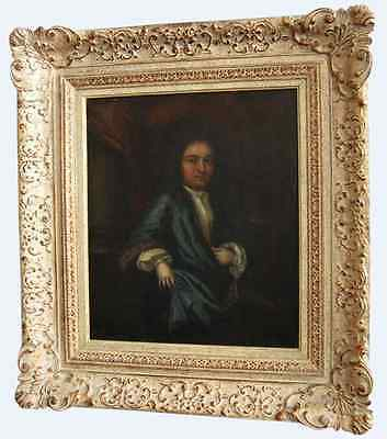 Antique 18th century French portrait painting of a Gentleman / Nobleman