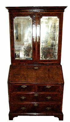 18th century George I Walnut Bureau Cabinet Secretary Secretaire Desk Christie's