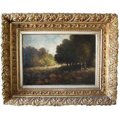 Late 19th century French Pastoral Landscape, Signed