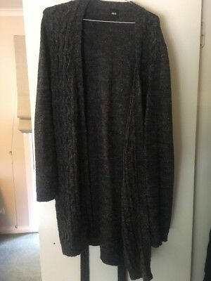 Asos Unisex Charcoal Long Cardigan, Small FREE POSTAGE