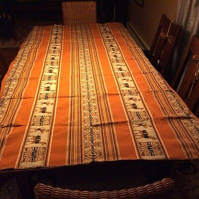 """Material From Peru 90""""x40"""" Bolt of material can be used as tablecloth"""