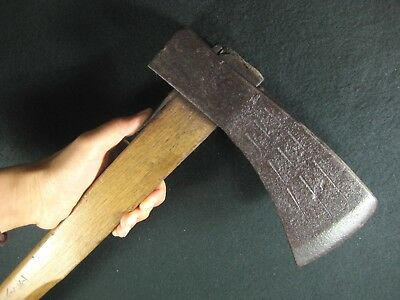 Japanese Antique Signed 120 Year Old Hand Forged Laminated Iron Ono Ax