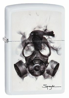 Zippo Windproof Flame Art Lighter by Spazuk With Gas Mask, 29646, New In Box