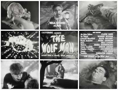 16mm Feature Film: THE WOLF MAN (1941) Lon Chaney, Jr - UNIVERSAL HORROR