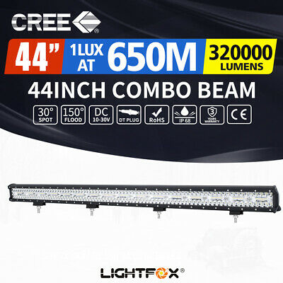 44inch CREE LED Light Bar Spot Flood OffRoad Driving Work 4WD 4x4 Reverse 40/42""