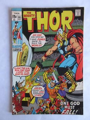 Thor # 181 - HIGHER GRADE - Avengers IronMan MARVEL Check out our other Comics
