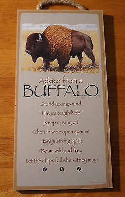 ADVICE FROM A BUFFALO Stand Your Ground Roam Wild & Free LODGE CABIN DECOR SIGN