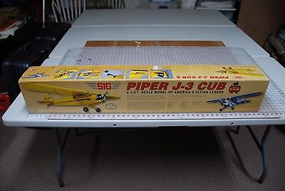 "84.5"" Balsa model airplane kit ""PIPER J-3 CUB 1/5th Scale"" by SIG.#SIGRC82"
