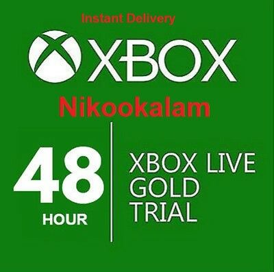 XBOX LIVE GOLD 48HR 2 DAY TRIAL INSTANT DISPATCH - 48 HOUR 2 DAYS 48 HOURS Fast