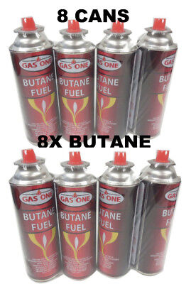Gasone 8 Cans Butane Fuel Canisters For Portable Camping Stoves Outdoor 8 OZ