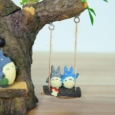 Anime Ghibli My Neighbor Totoro Tree Swing Figurine Home Decor Gift A Toy