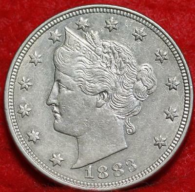 1883 No Cents Philadelphia Mint Liberty Nickel Free Shipping