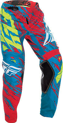 FLY RACING KINETIC RELAPSE PANT TEAL/RED 38 Kinetic Relapse 370-43938