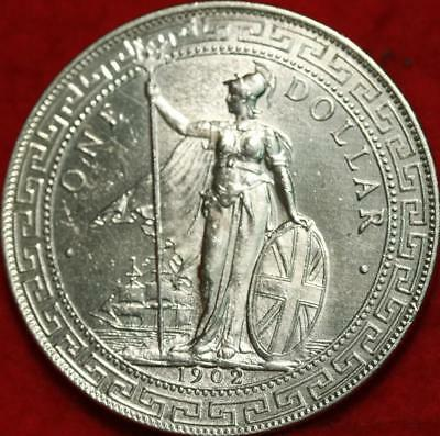 1902 Great Britain Trade Dollar Silver Foreign Coin Free S/H