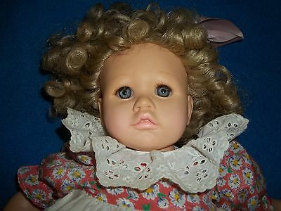 Doll By Pauline Hard Plastic/stuffed  Baby Doll Numbered